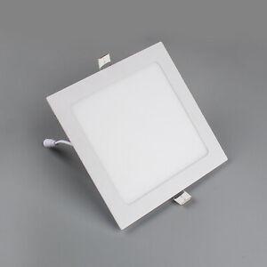 4x 24W eckig LED Panel Einbau Decken Wandleuchte Einbaustrahler Leuchte Warmweiß