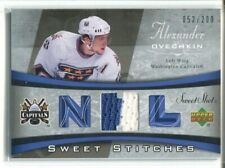 06-07 UD Sweet Shot Sweet Stitches Jersey SS-AO Alex Ovechkin #052/200