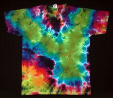Hippie Tie Dye Batik Flowerpower Goa manches courtes T-shirt teinte Taille L NEUF