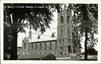 Potsdam NY Catholic Church Real Photo Postcard