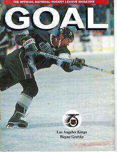 1991 Goal Magazine hockey Wayne Gretzky, Los Angeles Kings, behind the scenes VG