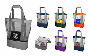 NFL Football Team Logo Mesh Cooler Beach Picnic Tote Bag Purse ALL TEAMS Option