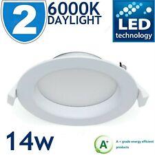 "2x 14W LED DOWNLIGHT RECESSED CEILING SPOTLIGHT LED PANEL LIGHT DAYLIGHT 5.5"""