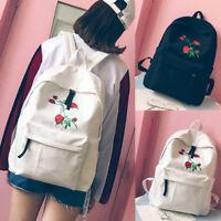 Women Lady Backpack Girl School Laptop Shoulder Bag Rucksack Canvas Travel Bags