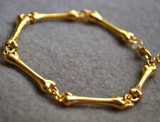 Gothic Punk Bone Bracelet Chain✿ Fd4089 Personality Women Girl Golden Plated