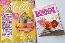 Mollie Makes Magazine Issue 80 2017 includes free gift, felt florals wreath kit