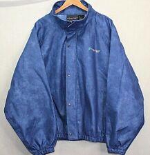 Frog Frogg Toggs Rain Gear Jacket Outerwear Blue Hooded Button Up Men XXXL