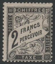 """FRANCE STAMP TIMBRE TAXE N° 23 """" TYPE DUVAL 2F NOIR """" NEUF x TB RARE  K385"""