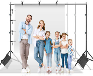 Limostudio Photo Video Muslin Backdrop Support Stands, Adjustable 10 Ft. Wide Cr