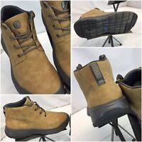 Bzees Suede Boot Sz 9 Men Tan Leather Lace Worn Twice YGI C9S-141