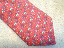 vineyard vines Scuba Pattern 100% Silk Tie NWT $85 Made in USA Raspberry Red