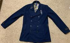 Doctor Who Hot Topic BBC TARDIS Coat Size M Medium Jacket Lined Cosplay RARE