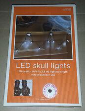Target 2009 Halloween LED Skull Lights, White