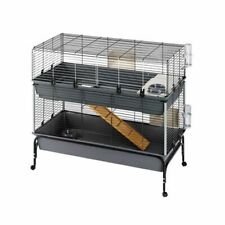 Small Pet Cage Home Accessories Play Sleep 2 Storey Dwarf Rabbit Guinea Pig
