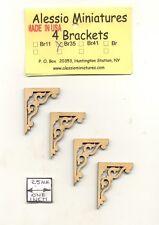 Bracket / Braces - BR35 wooden dollhouse miniature 1:12 scale USA made 4pcs