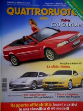 Quattroruote 524 1999 Volvo C70 Cabrio. Porsche e Maserati la sfida ritorna Q.66
