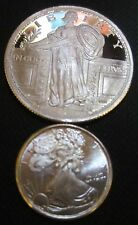.999 Silver TWO Rounds: 1/4th Oz Standing Liberty & 1/10 Oz Eagle Liberity