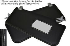 WHITE STITCH FITS ROVER 45 400 MG ZS 98-05 2X SUN VISORS LEATHER COVERS ONLY