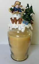 Winter Christmas Time Candle Topper for large Yankee or Home Interiors Candle