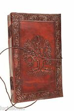 9x5 Handmade Leather Sketchbook Journal diary Celtic Tree of Life Book of Shadow