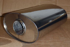 """9"""" x 5"""" Oval x 14"""" Long Universal stainless steel exhaust silencer"""