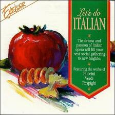 Let's Do Italian (CD, Excelsior Recordings) Opera: Puccini, Verdi, Respighi NEW*