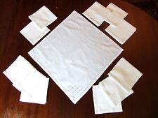 Lot de 12 serviettes en Fil de Lin à décor de jours