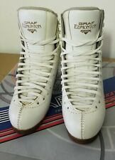 GRAF Edmonton Special Womens 7.0 S Figure Skate Boots White NEW Old Stock