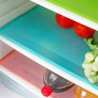 4PCS Refrigerator Fridge Mat Pad Drawer Liners Washable Kitchen Waterproof Shelf