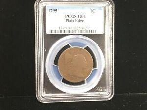 1795 LIBERTY CAP LARGE ONE CENT PLAIN EDGE PCGS G04 (424)