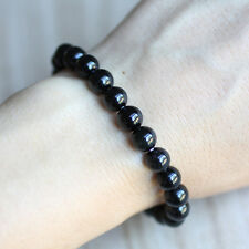 Black Obsidian Beaded Bracelet Infused With Reiki Energy For Clarity Protection