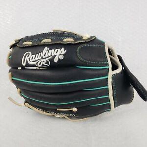 Rawlings 11.5 Softball Glove Girls Fastpitch WFP115MT Black Teal RHT NWOT