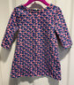 Vineyard Vines Toddler Girl's Size 2T Pink Blue Whale Long Sleeve Zip Dress  EUC