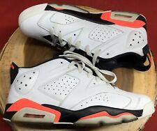 Jordan Retro VI 6 Low White Infrared 23 Black Chrome 304401-123 Sz 11