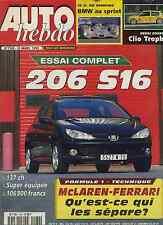 AUTO HEBDO n°1180 24/03/1999 106 S16 CLIO TROPHY