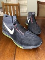 Sz 9 Nike Zoom All Out Flyknit Black Run Running Shoes 844134-002 Mens Air Max