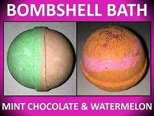 2 Pack Set! Large 4.5 Oz Bombshell Bath Bomb Fizzy Mint Chocolate & Watermelon