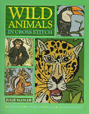 WILD ANIMALS IN CROSS STITCH - Julie Hasler -  38 different Patterns - 1994