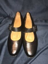 Footthrills womens mary jane pumps heels shoes 9 M black leather
