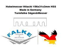 "6 Stück Hobelmesser Hitachi F50A 156x31x3 HSS  6-9/64"" x 1-7/32"" x 1/8"""