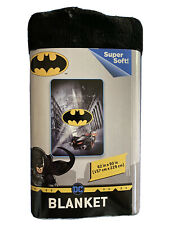 "Dc Comics Batman Logo Blanket Oversized Heavy 62"" X 90"" Throw Justice League New"