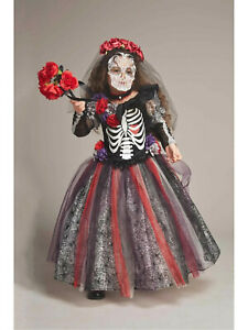 Day Of The Dead Catrina Costume Dress Girls Chasing Fireflies Size 6 (S)