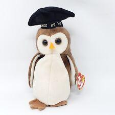 RETIRED MINT /'Wise/' the Scholarly Owl Ty Beanie Baby Graduation