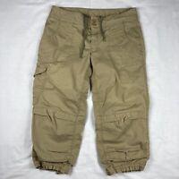 THE NORTH FACE Women Khaki Capri Pants Size 6 Outdoor Hiking Jogger