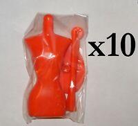 Job Lot of 10 x Orange Harumika Dress Form Mannequins