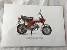 Genuine Honda ST50 Dax Postcard Picture Card Monkey Bike Z50 Cz100 Z50m