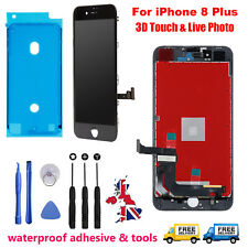 For iPhone 8 Plus LCD Display Digitizer Front Panel Screen Replacement Black UK