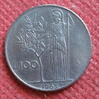 100 Lire Repubblica Italiana MINERVA 1° tipo del 1963 - Molto bella - n 967