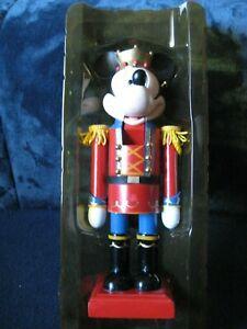 DISNEY Christmas Collection  MICKEY MOUSE WOODEN NUTCRACKER  FIGURINE