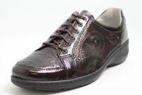 Waldläufer Schuhe schwarz braun echt Lackleder Wechselfußbett Schuhweite K